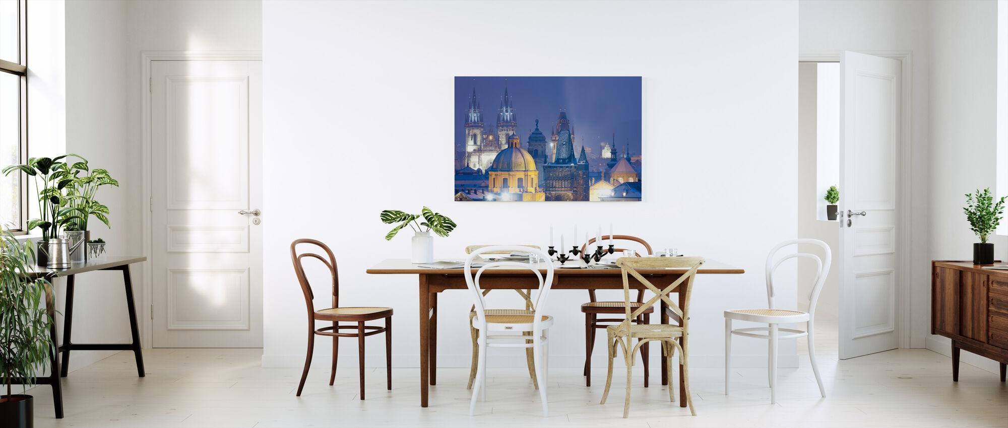 Prague by Night - Canvas print - Kitchen