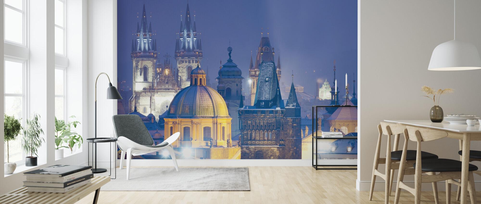 Prague by Night - Wallpaper - Living Room