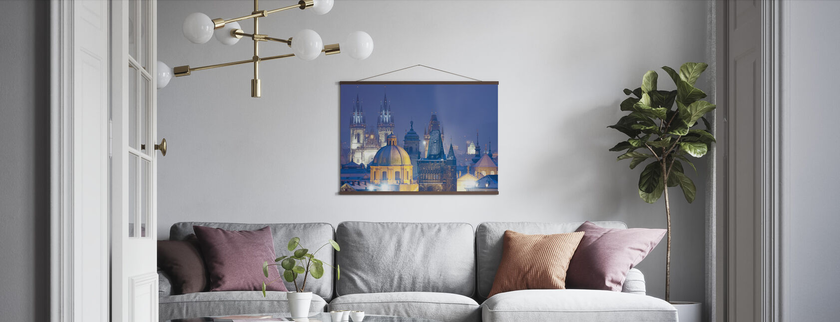 Prague by Night - Poster - Living Room