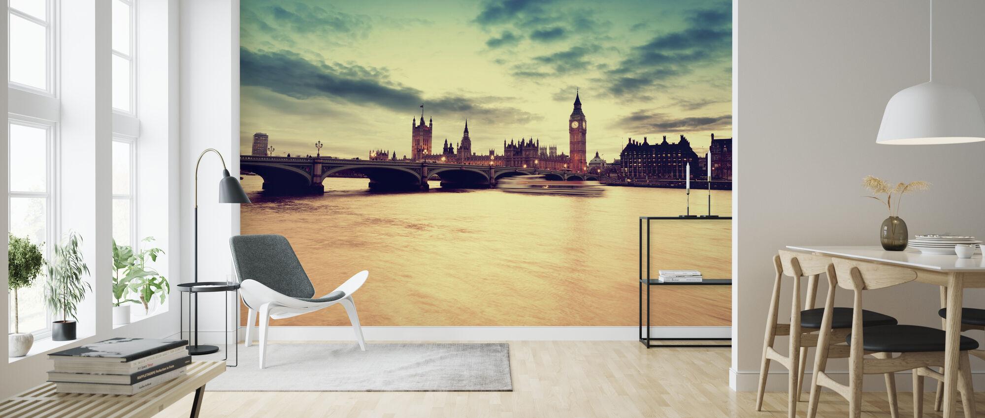 Lontoon kultainen ilta - Tapetti - Olohuone