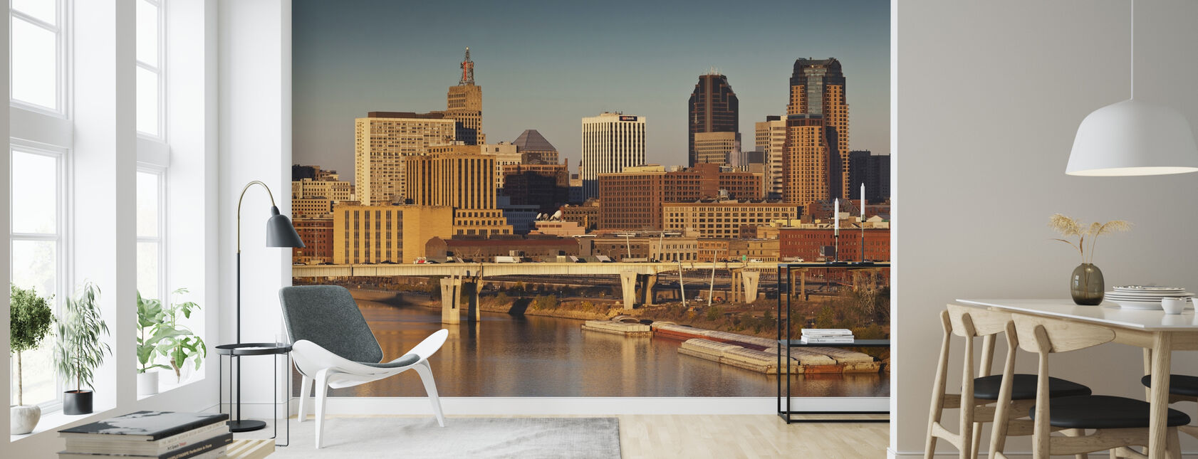 Daggry i Minneapolis - Tapet - Stue