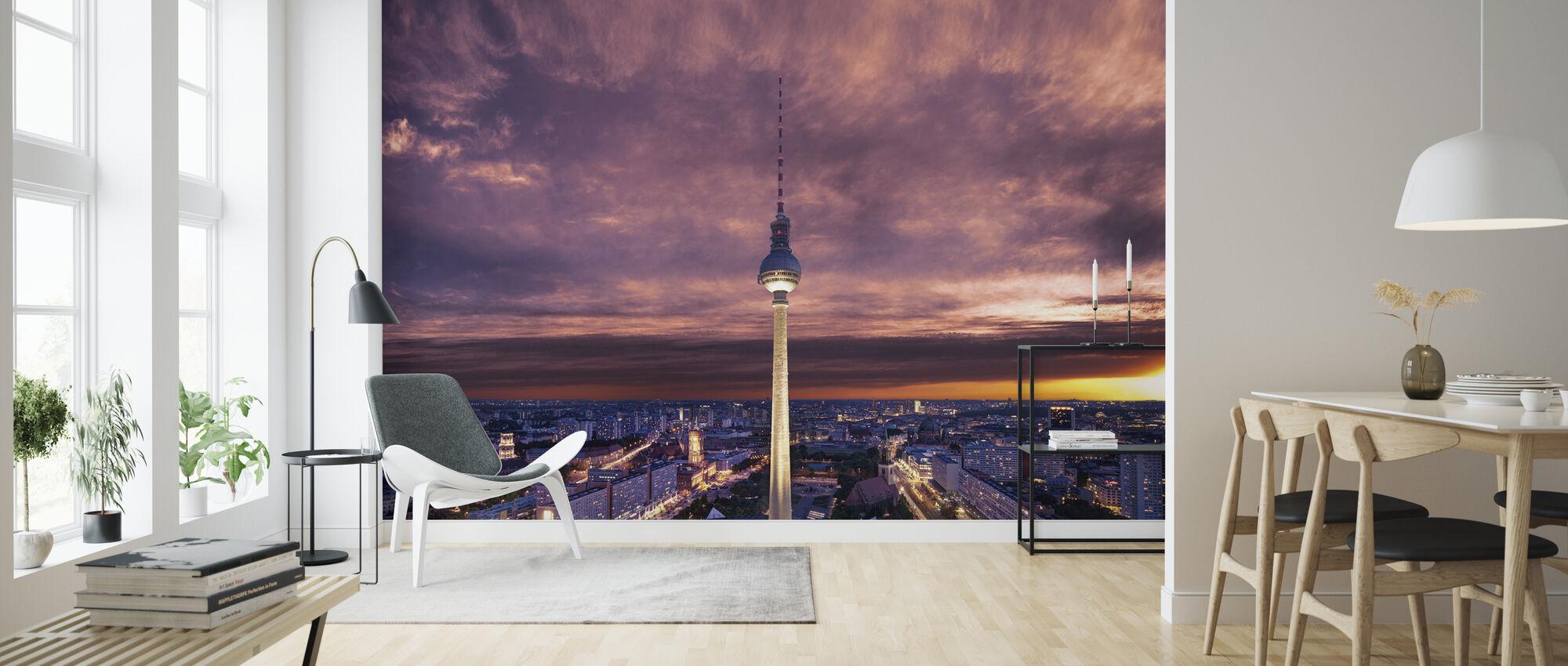 Tv-tower against Dramatic Sky - Wallpaper - Living Room
