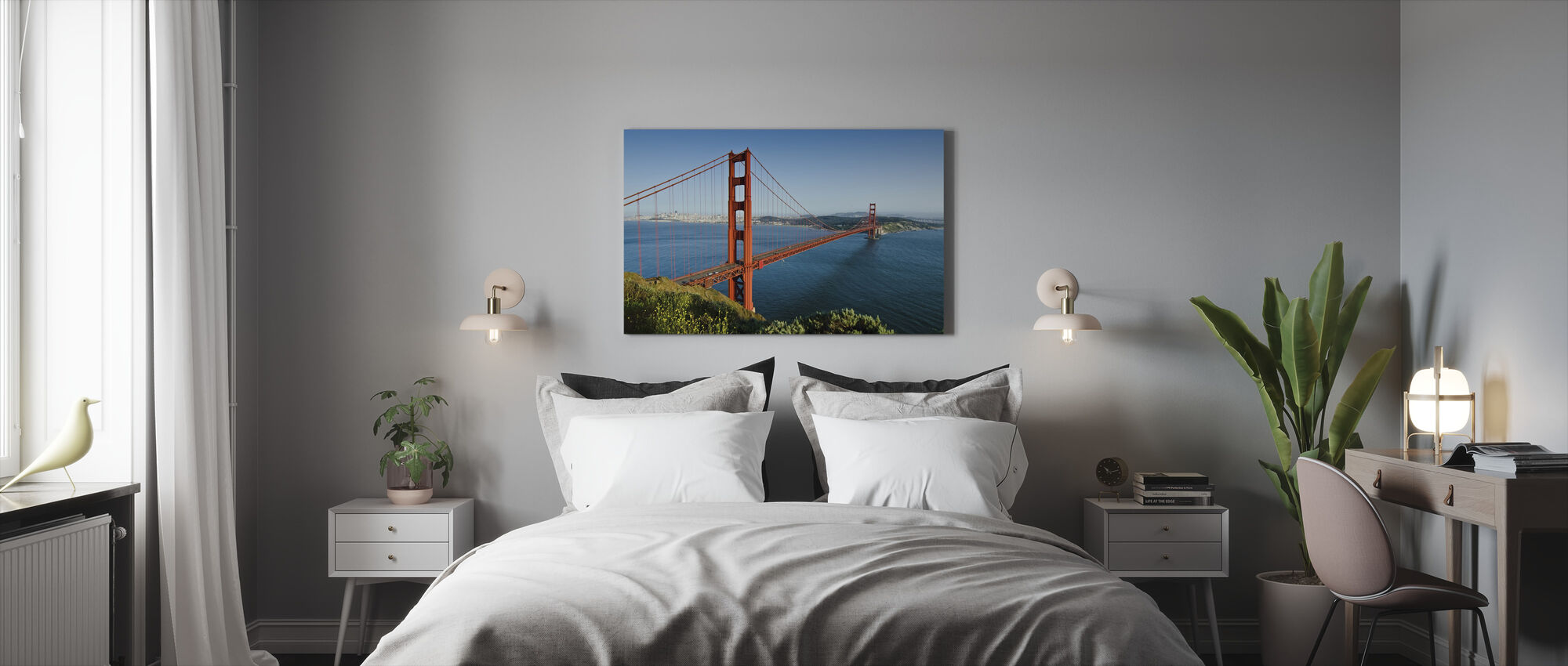 Red, Blue and Green - Canvas print - Bedroom