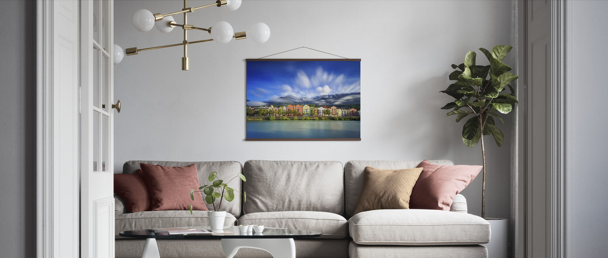 Clouds over Innsbruck - Poster - Living Room