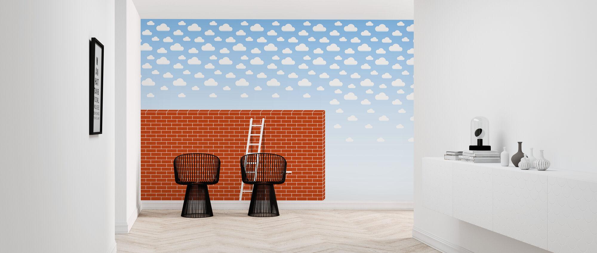Cumulus Tegel vägg - Tapet - Hall