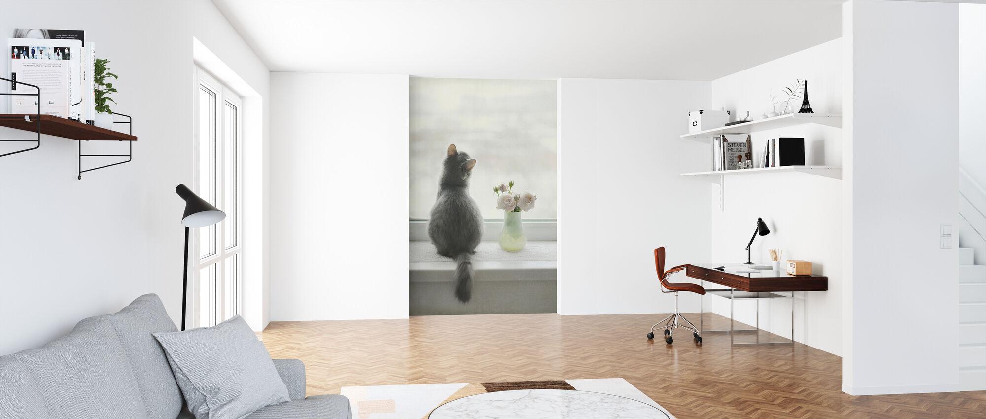 Kitty Dreaming - Wallpaper - Office