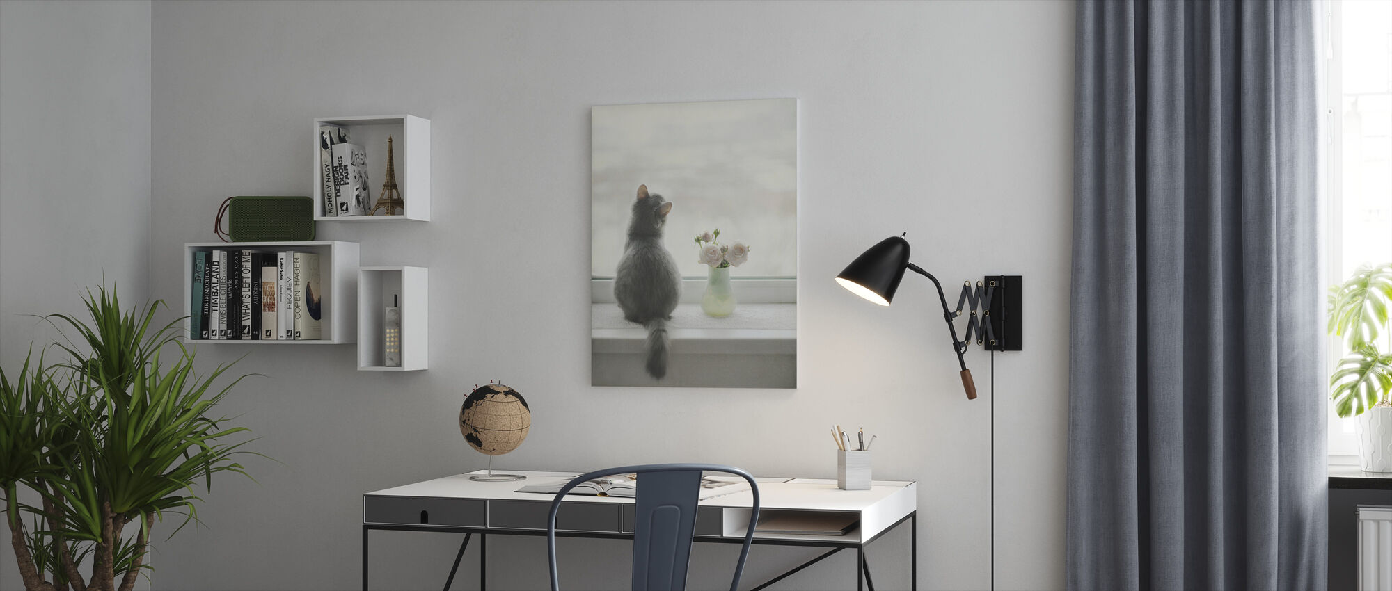 Kitty Dreaming - Canvas print - Office