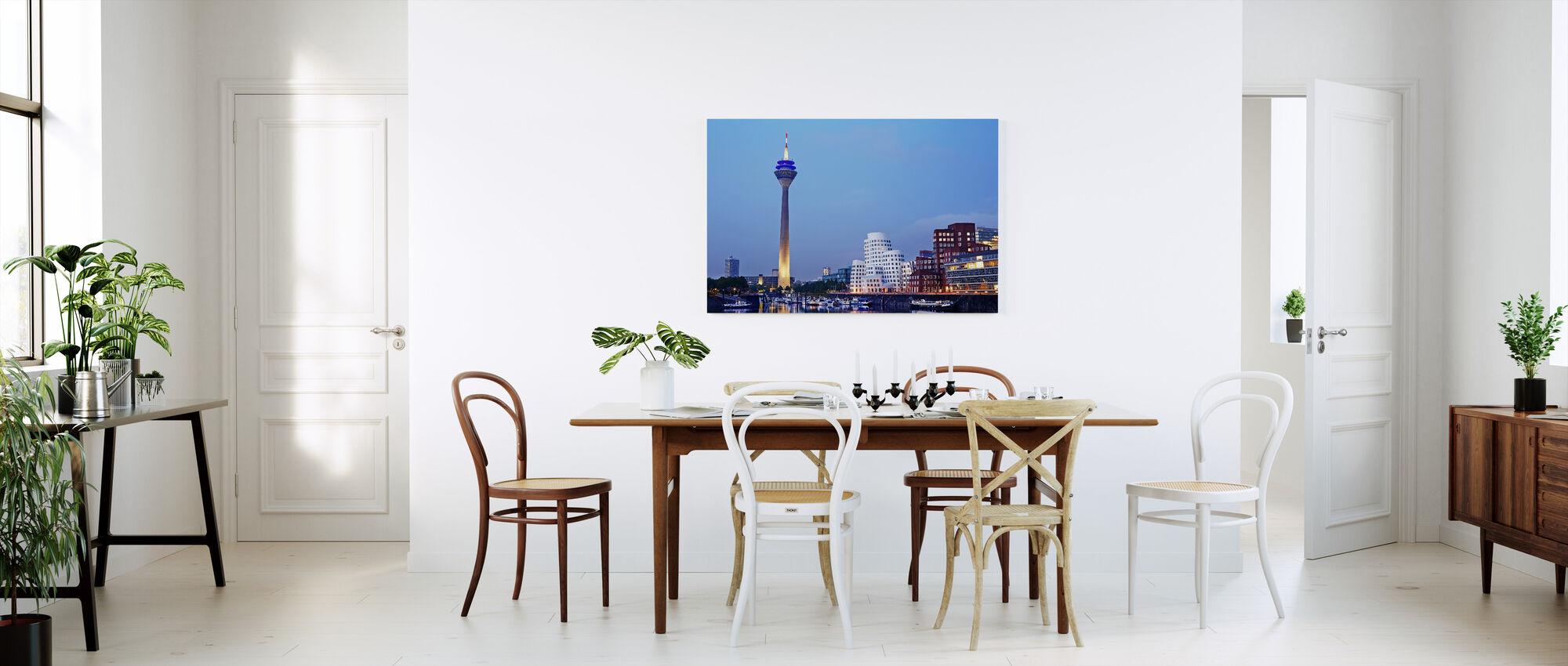 Düsseldorf's Rheinturm Tower at Dusk - Canvas print - Kitchen