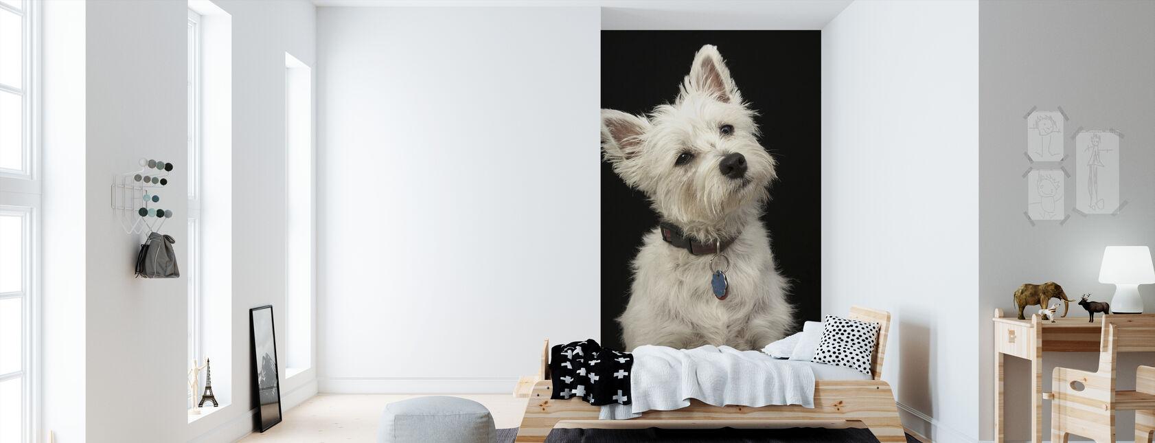 West Highland Terrier - Tapet - Børneværelse