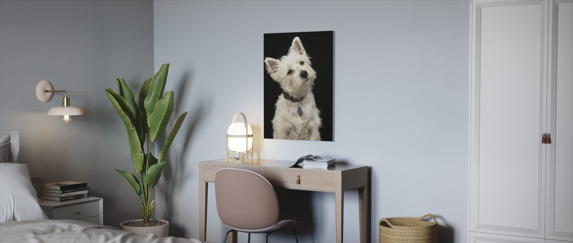 West Highland Terrier - Canvas print - Office