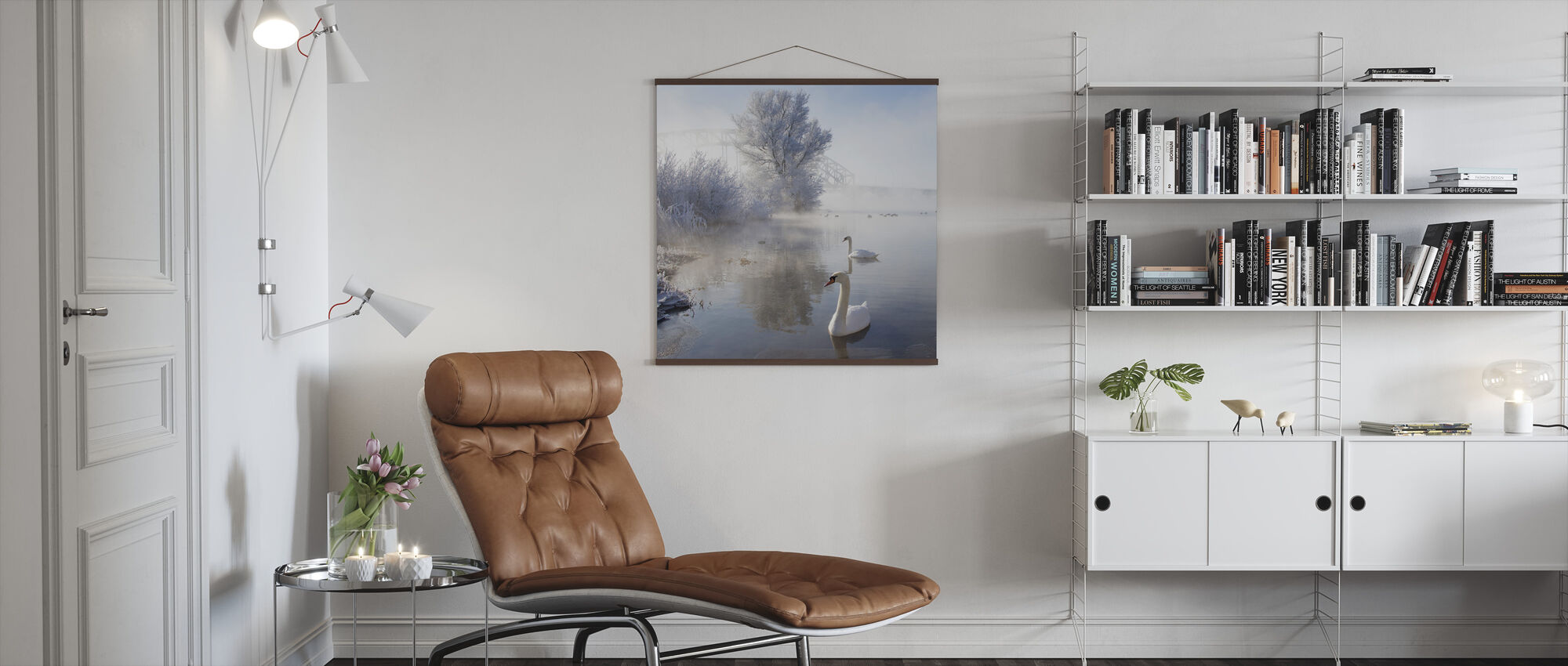 Icy Swan Lake - Poster - Living Room