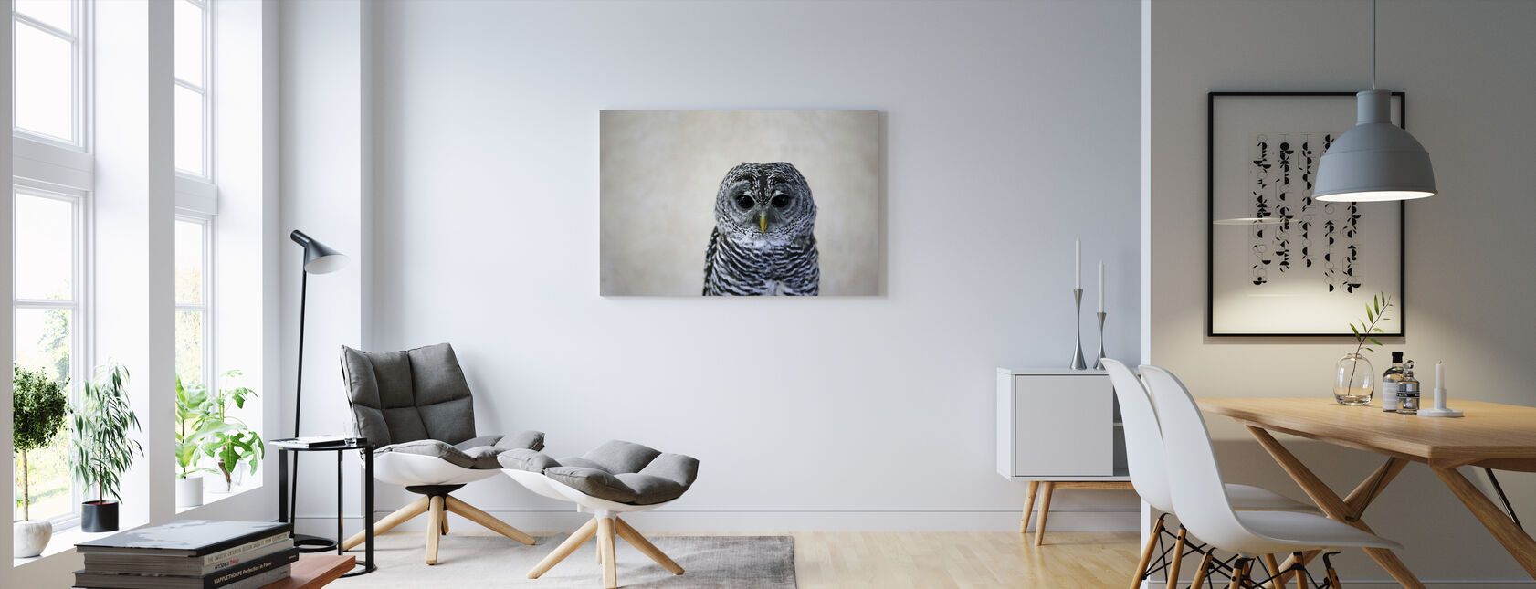 Portrait of an Owl - Canvas print - Living Room