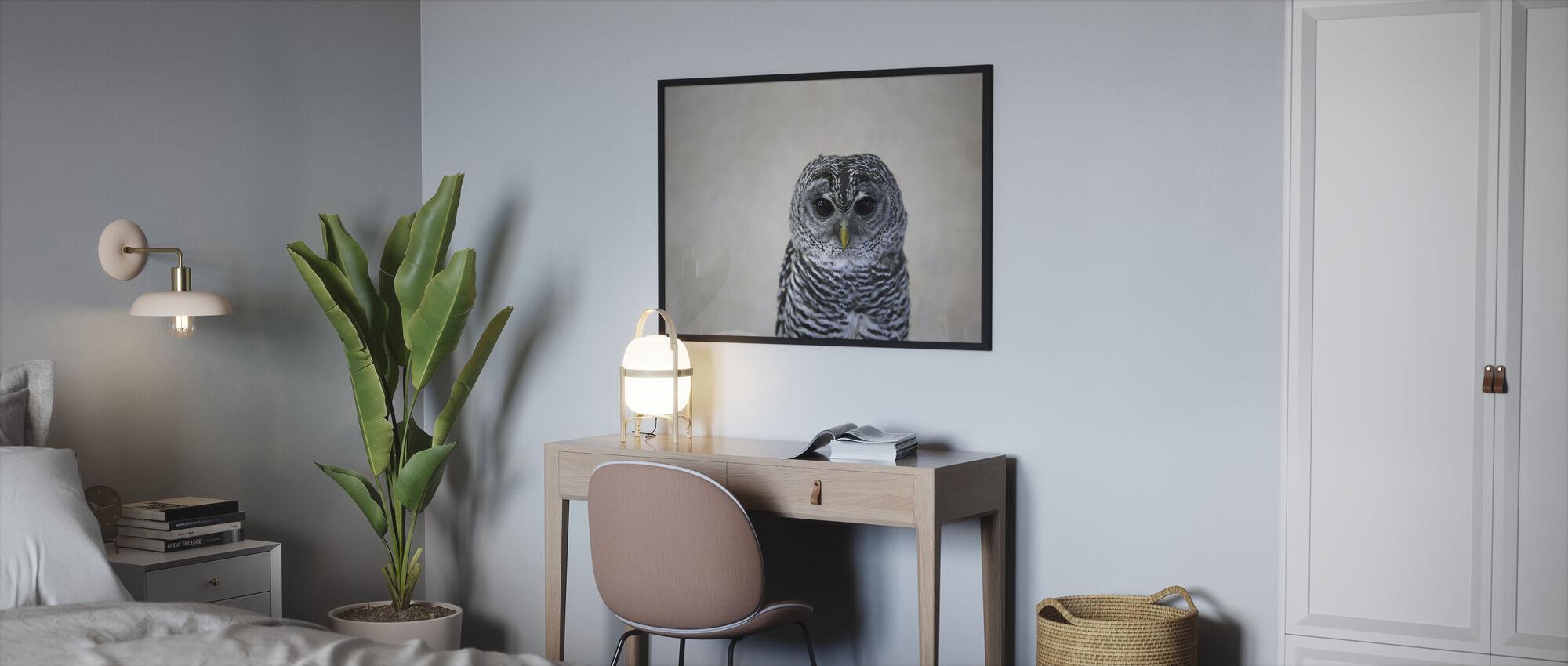Portrait of an Owl - Framed print - Bedroom