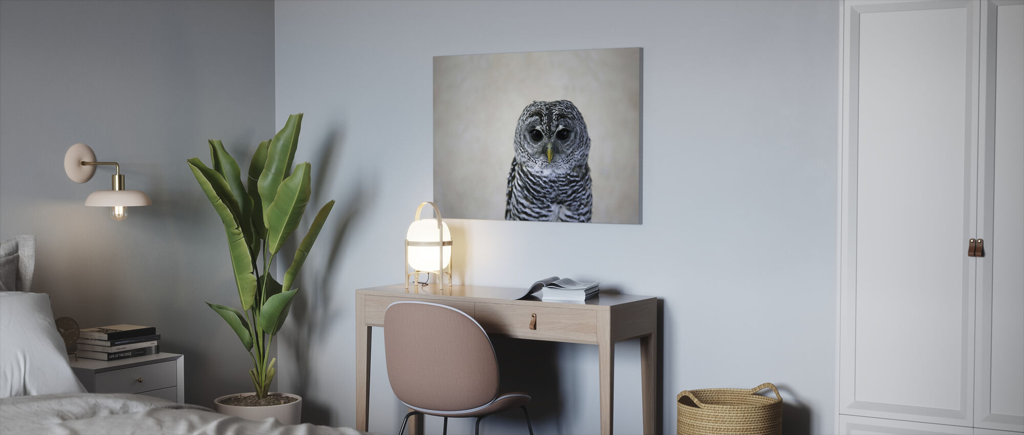 Portrait of an Owl - Canvas print - Office