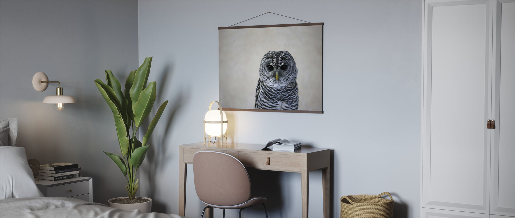 Portrait of an Owl - Poster - Office