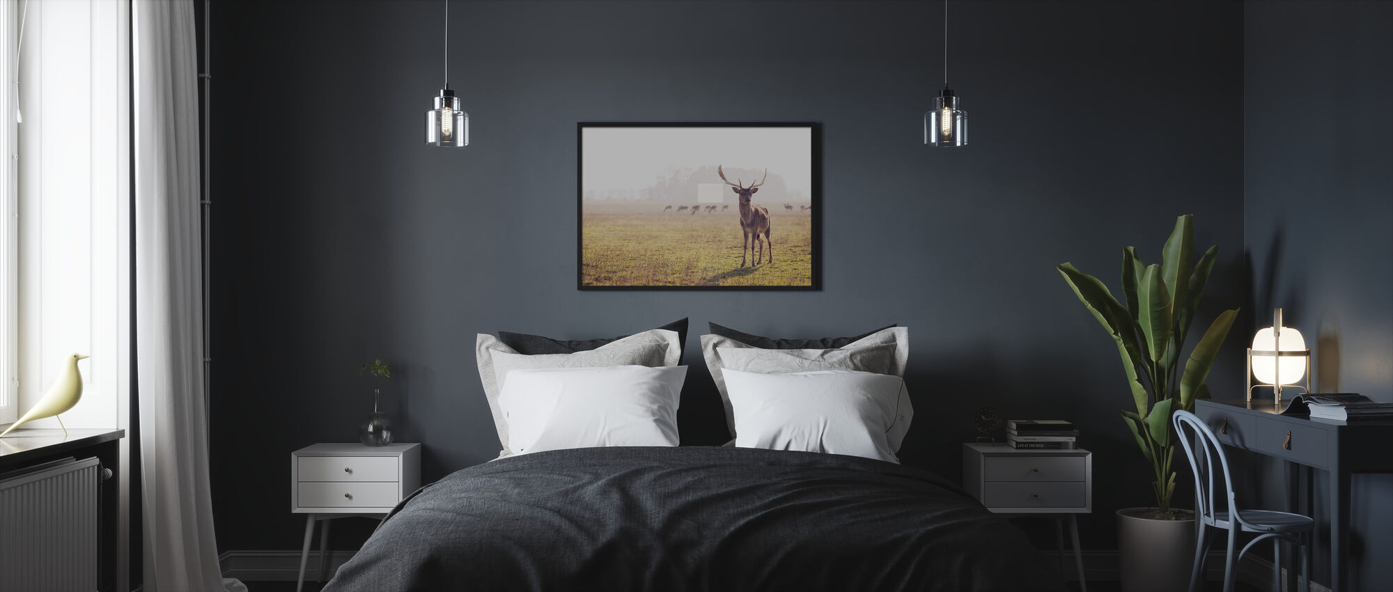 Fallow Deer - Framed print - Bedroom