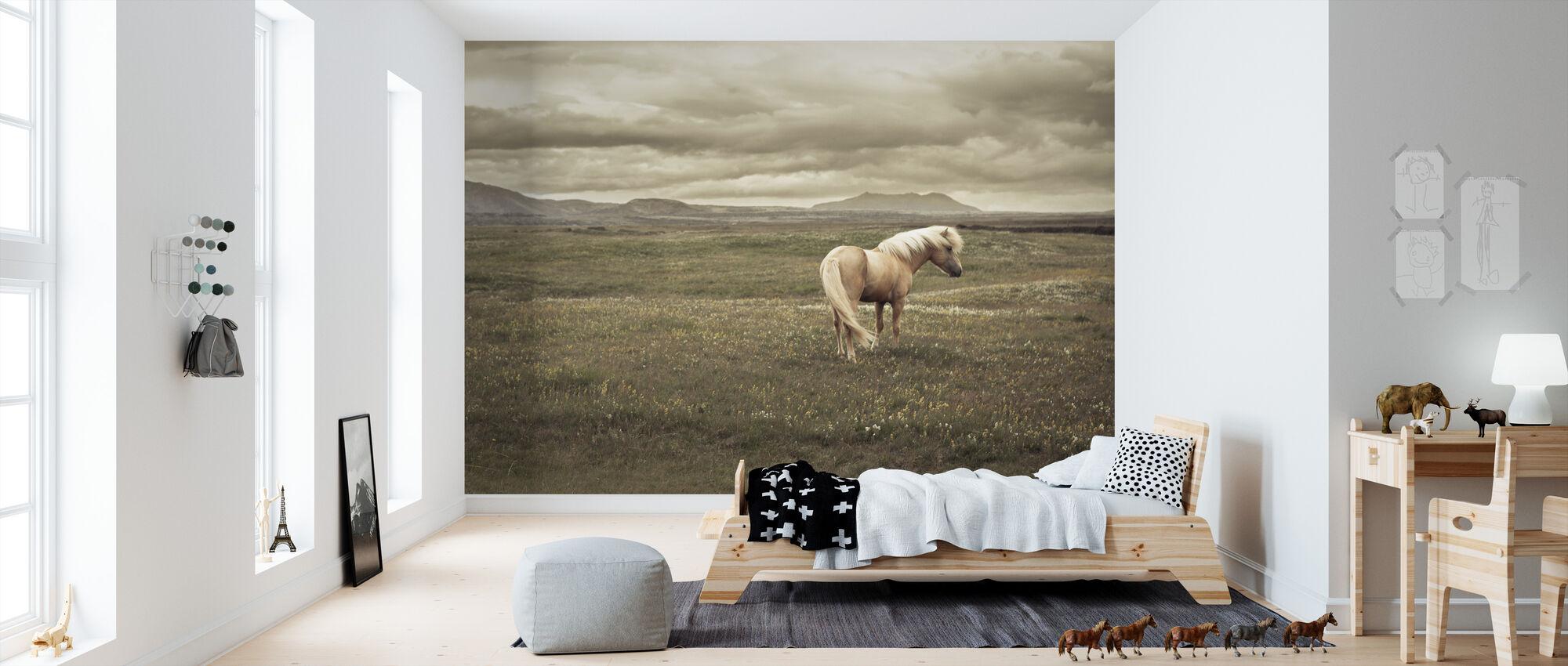 IJslands Paard - Behang - Kinderkamer