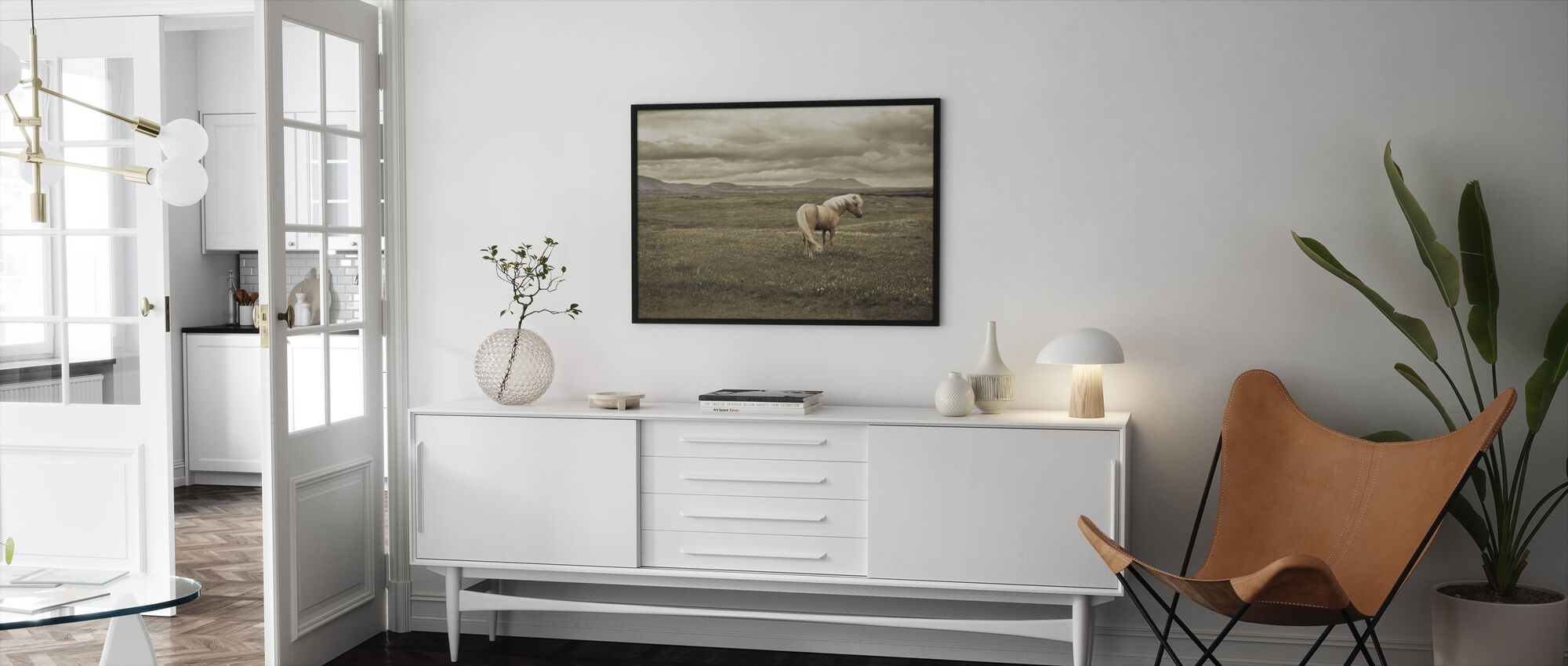 Isländsk häst - Inramad tavla - Vardagsrum