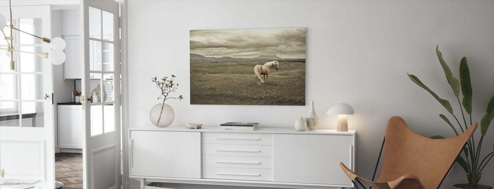 Icelandic Horse - Canvas print - Living Room