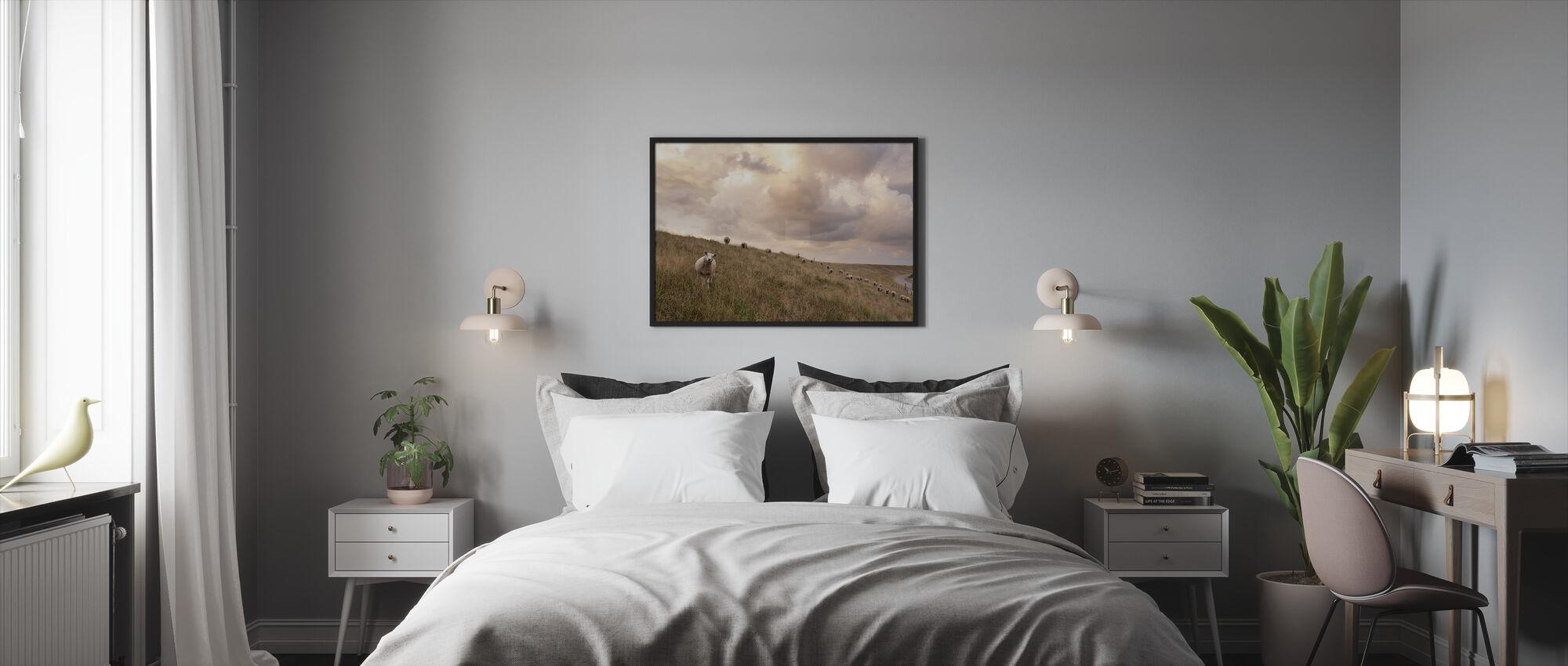 Attentive Sheep - Framed print - Bedroom