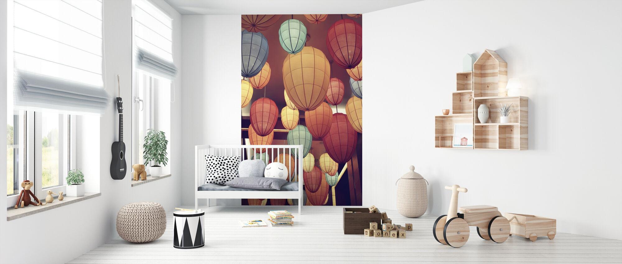 Lamps - Wallpaper - Nursery