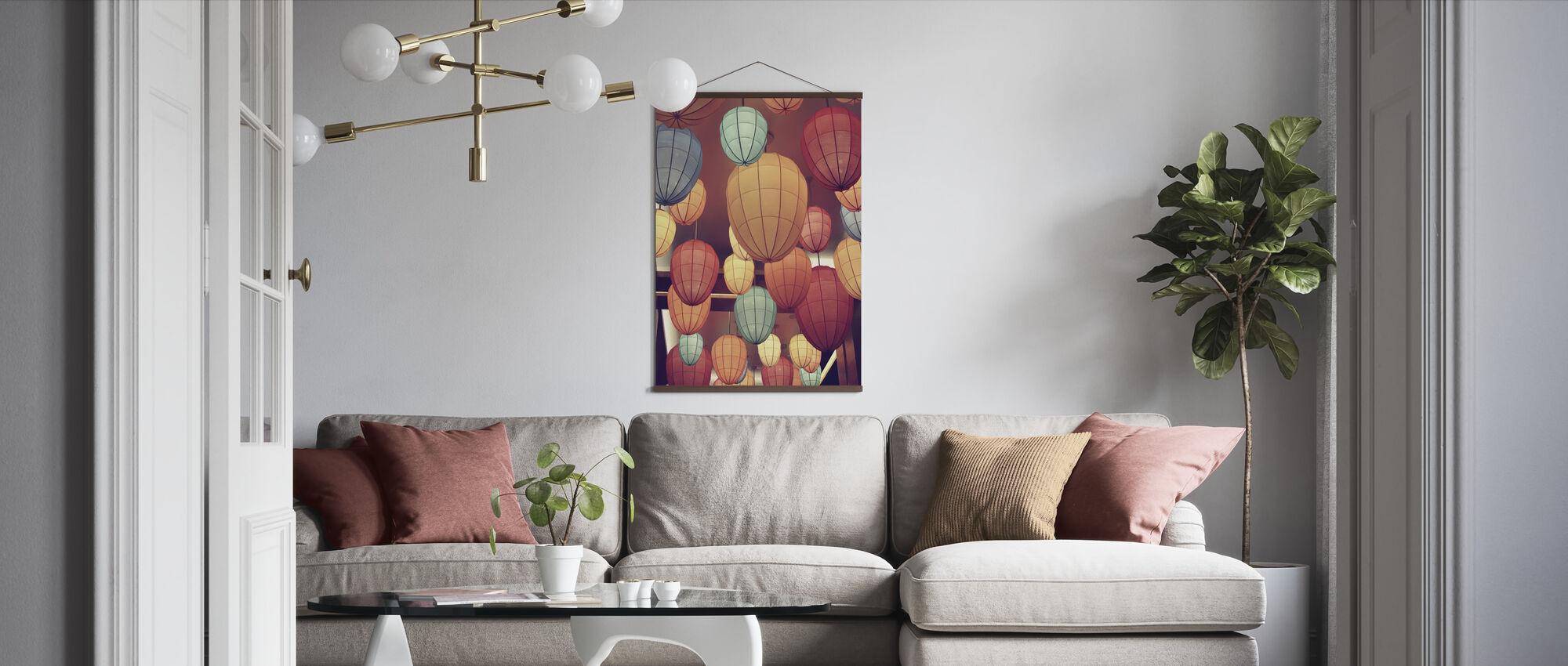 Lampor - Poster - Vardagsrum