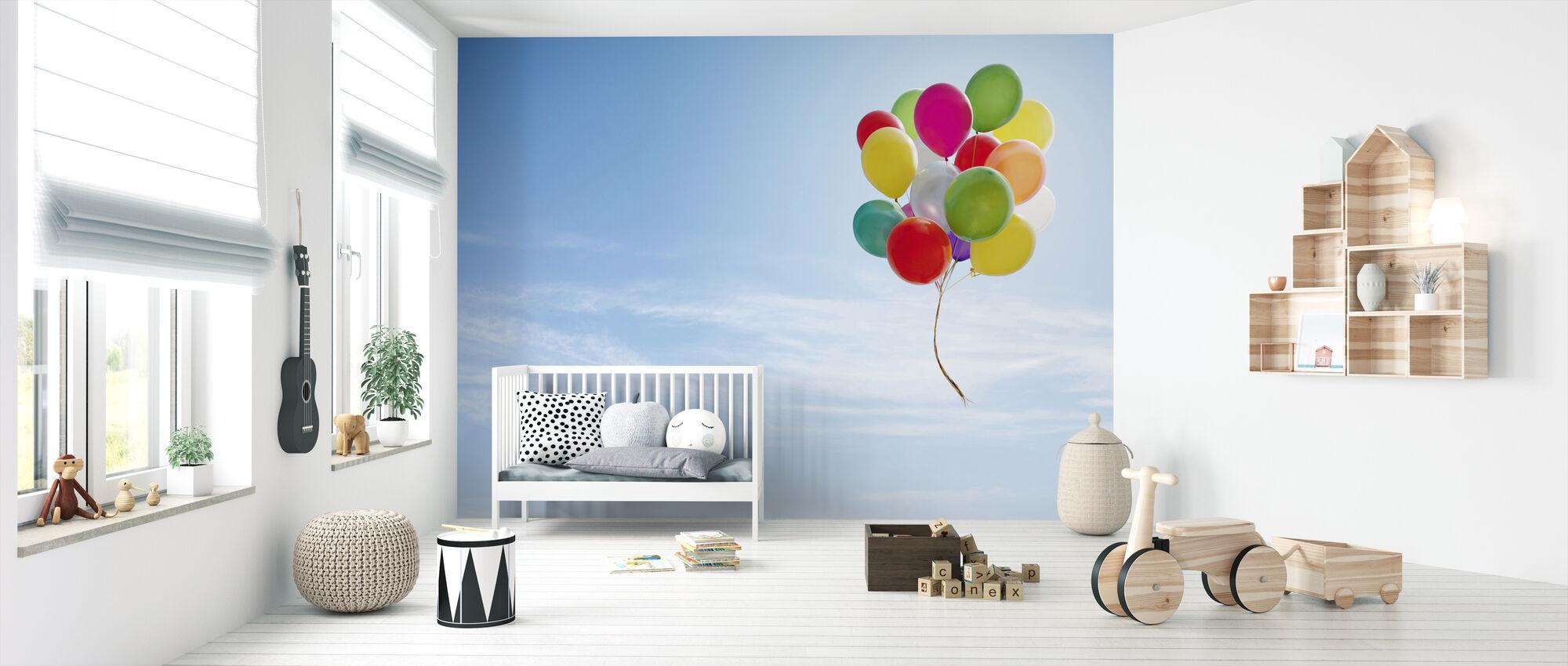 Bundle af balloner - Tapet - Babyværelse
