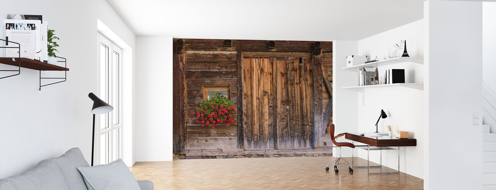 Rustic Charm - Wallpaper - Office