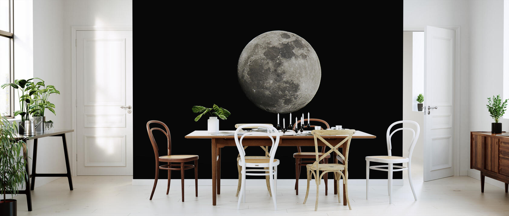 moon einzigartige tapete h chster qualit t photowall. Black Bedroom Furniture Sets. Home Design Ideas