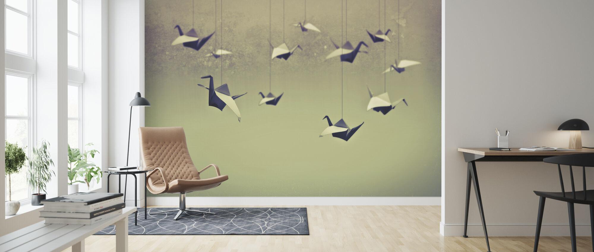 Origami Birds - Wallpaper - Living Room