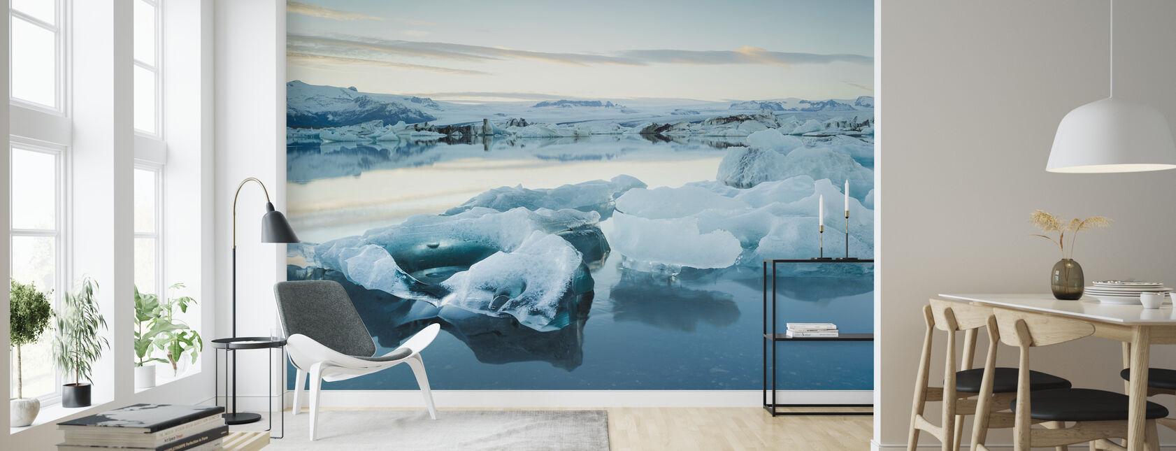 Skulpturales Eis - Tapete - Wohnzimmer