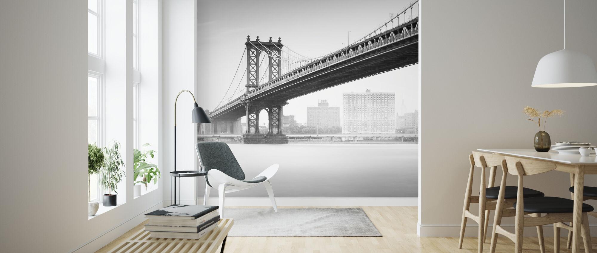 Study of Manhattan Bridge - Wallpaper - Living Room