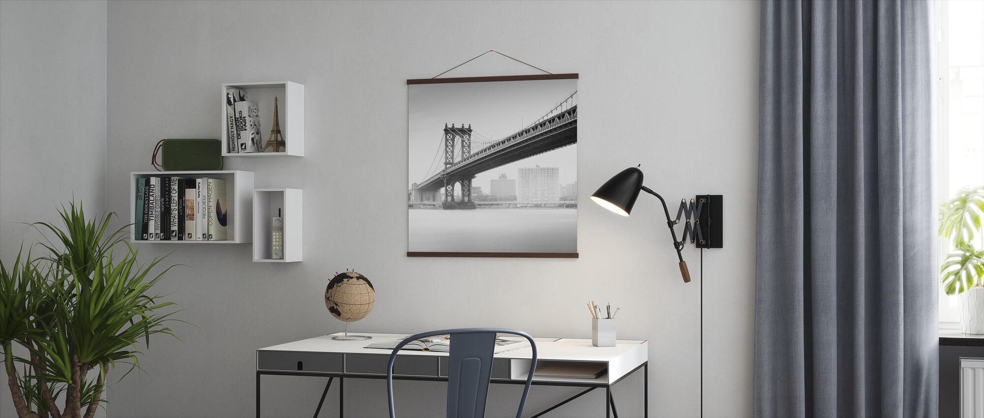 Study of Manhattan Bridge - Poster - Office