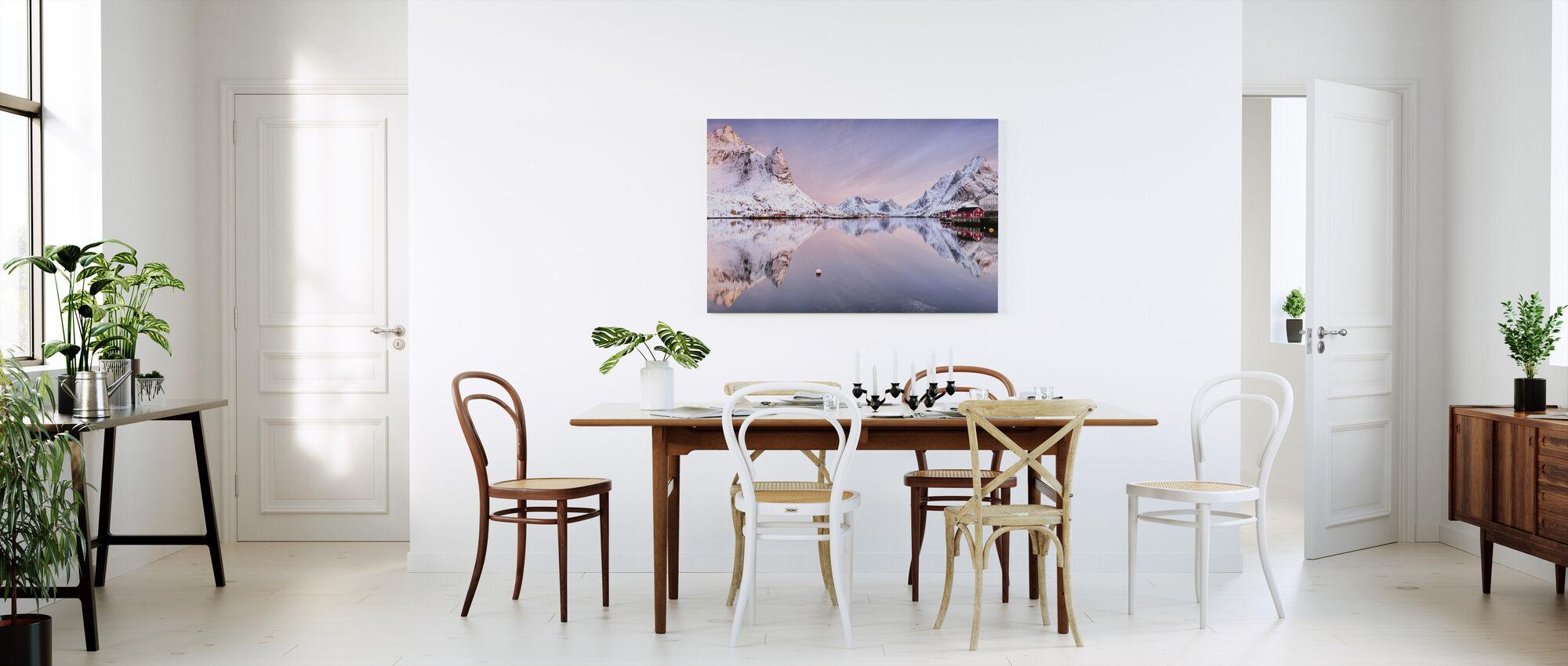 Sunrise at the Fjord - Canvas print - Kitchen