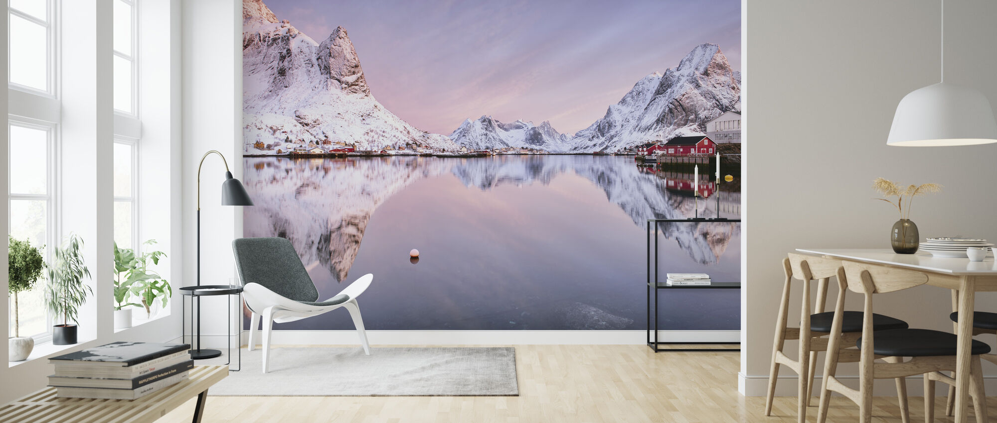 Sunrise at the Fjord - Wallpaper - Living Room