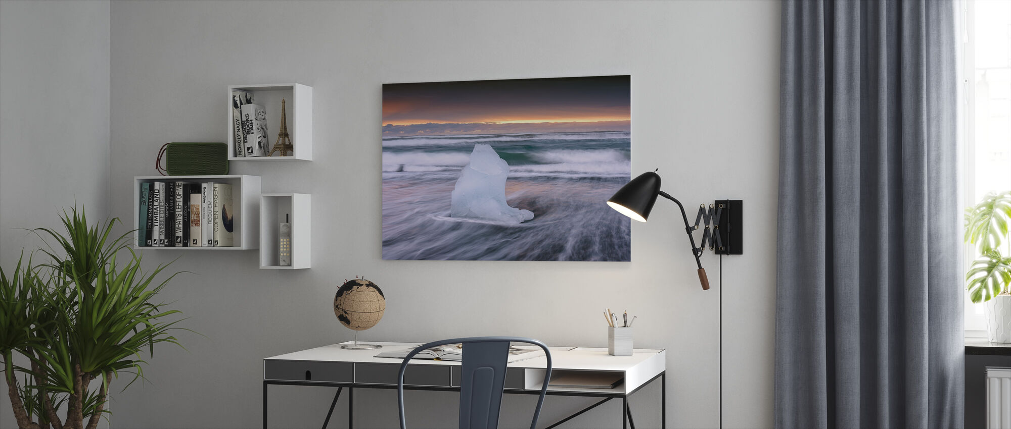 Surfing Ice - Canvas print - Office