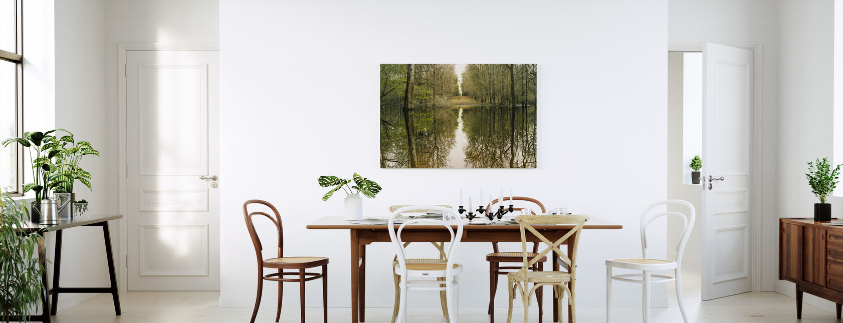 Suwanne Reflektion Panorama - Canvastavla - Kök