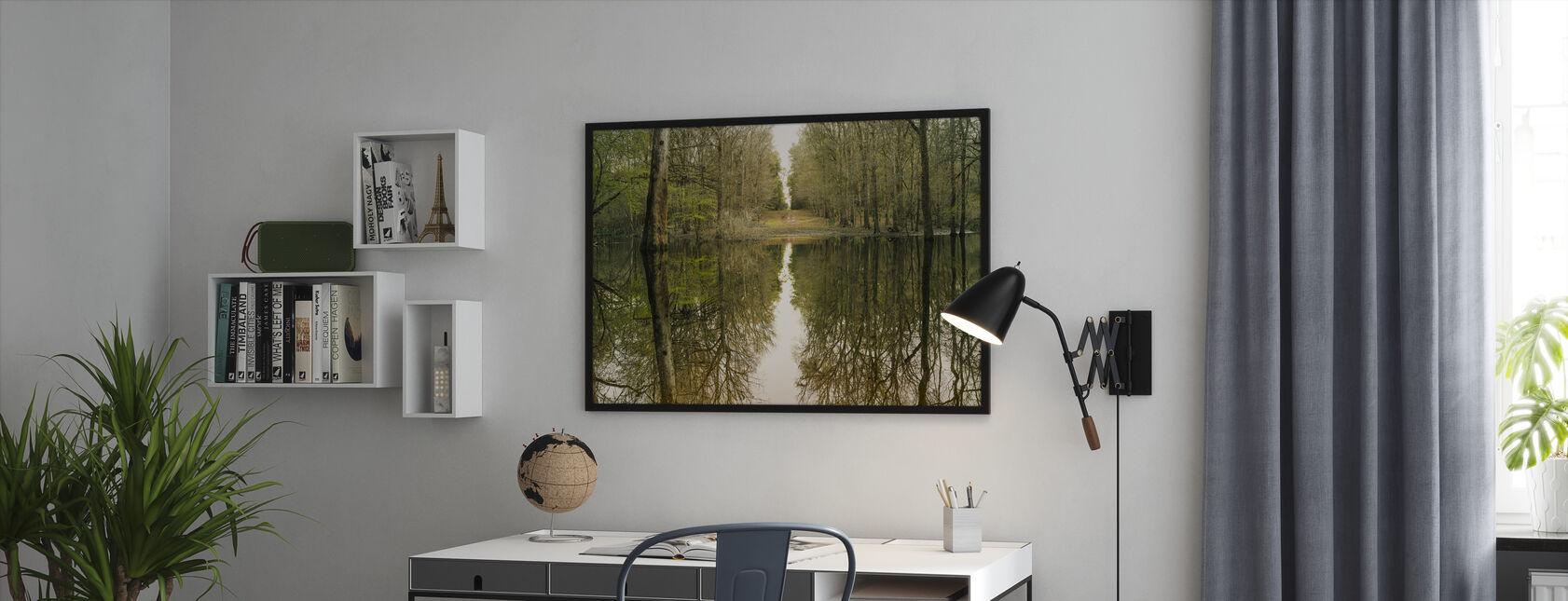 Suwanne refleksjon panoramautsikt - Innrammet bilde - Kontor