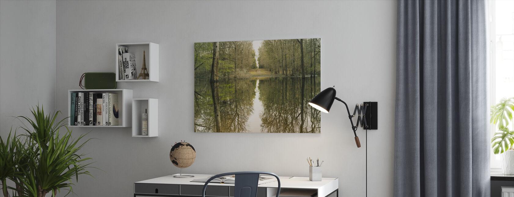 Suwanne Reflektion Panorama - Canvastavla - Kontor