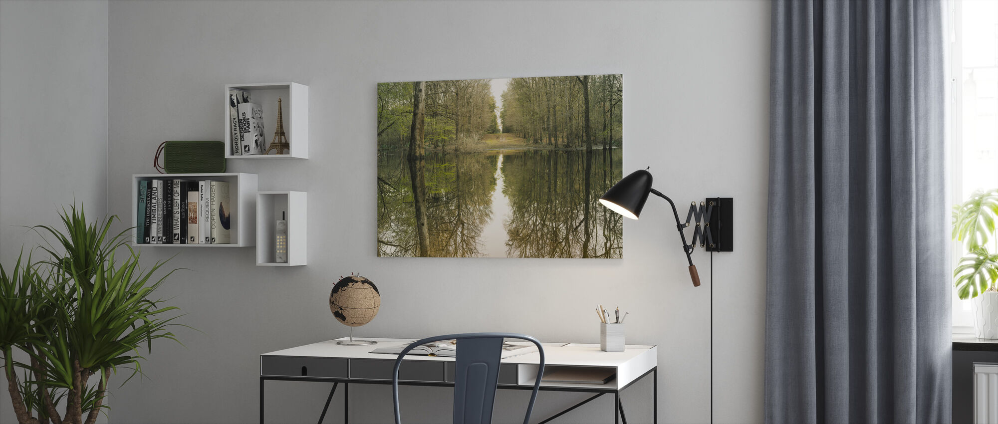 Suwanne Reflection Panoramic - Canvas print - Office