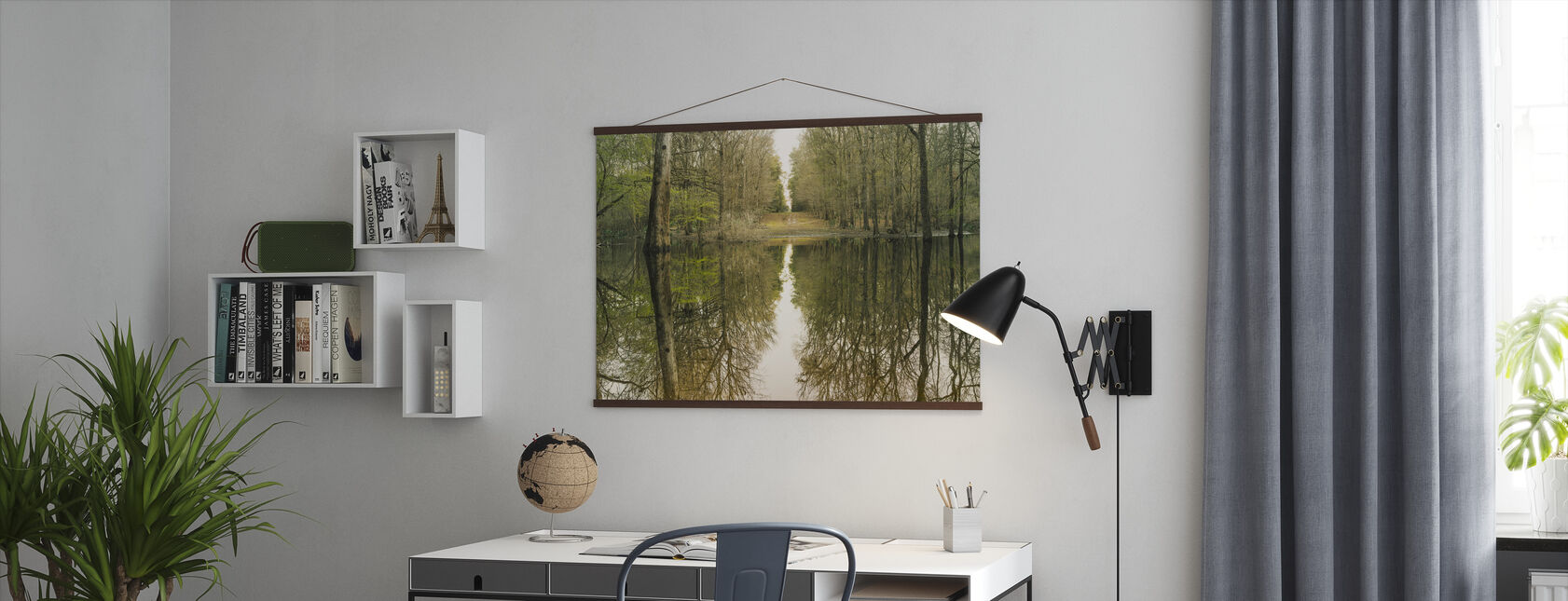 Suwanne Reflection Panoramic - Poster - Office
