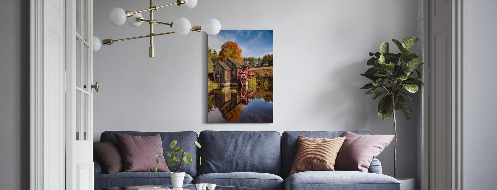 The Old Grist Mill - Canvas print - Living Room