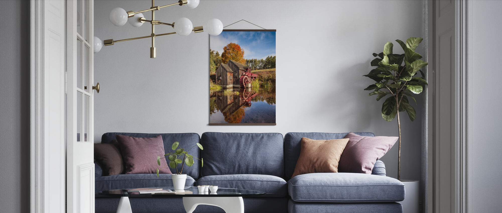 The Old Grist Mill - Poster - Living Room