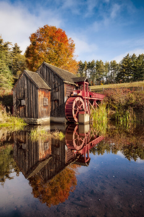The Old Grist Mill Canvas Print For All Settings Photowall