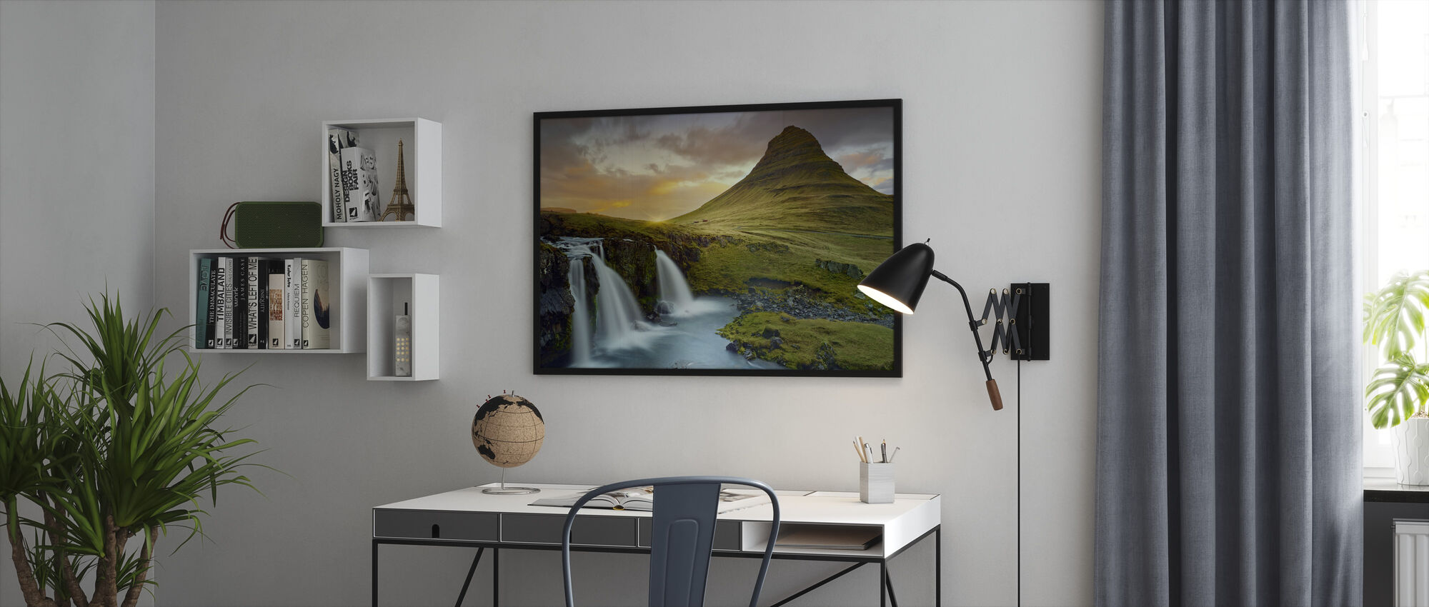 Three Waterfalls - Iceland - Framed print - Office