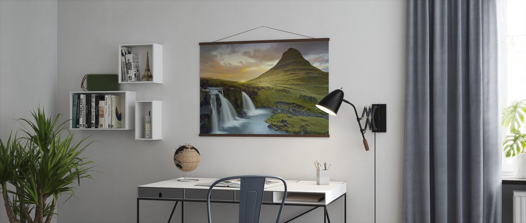 Three Waterfalls - Iceland - Poster - Office