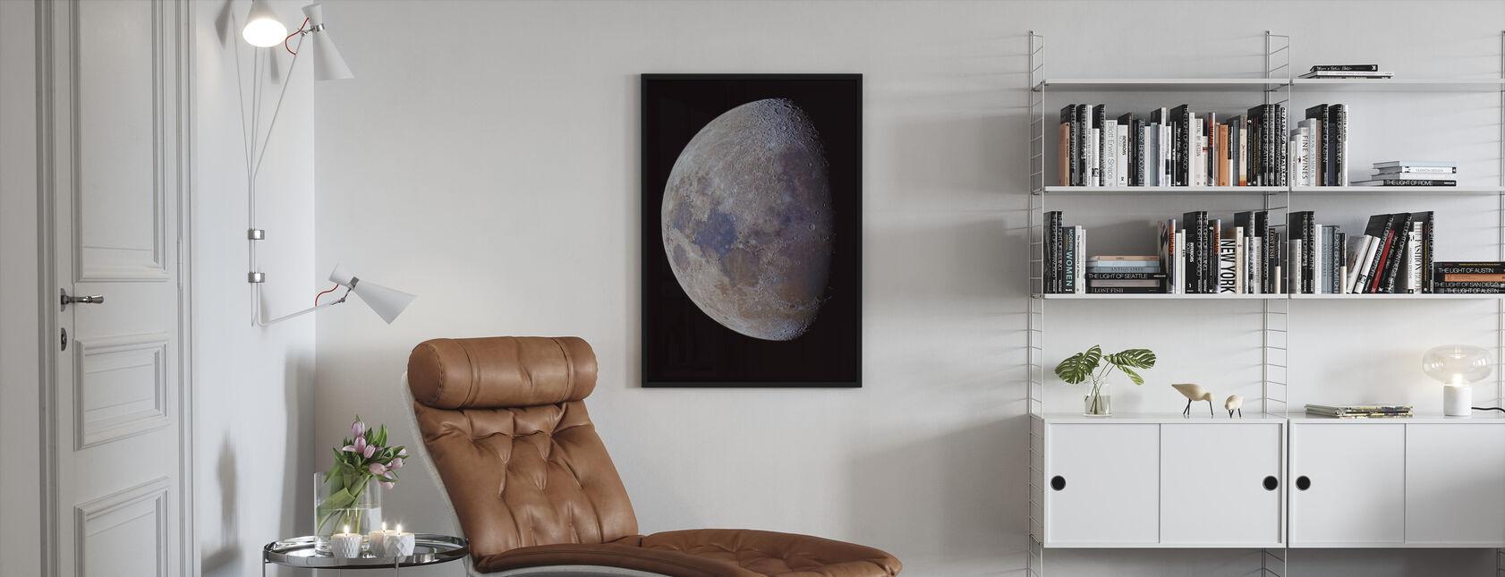 Lunar Colors - Framed print - Living Room