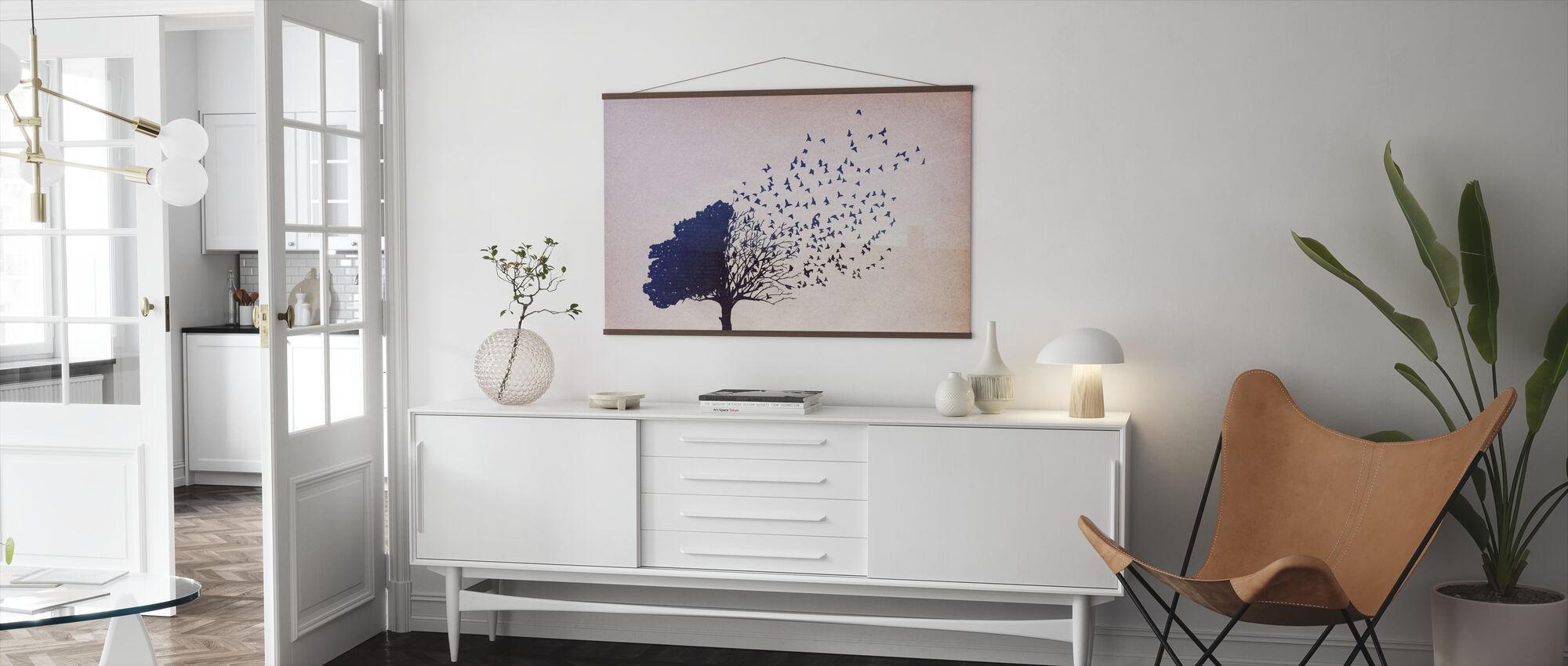 Birds Leaves - Poster - Living Room