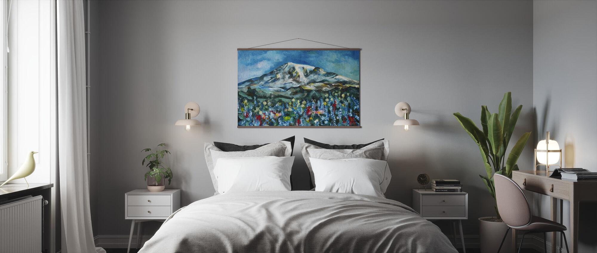 Mount Rainier Oil Painting - Poster - Bedroom