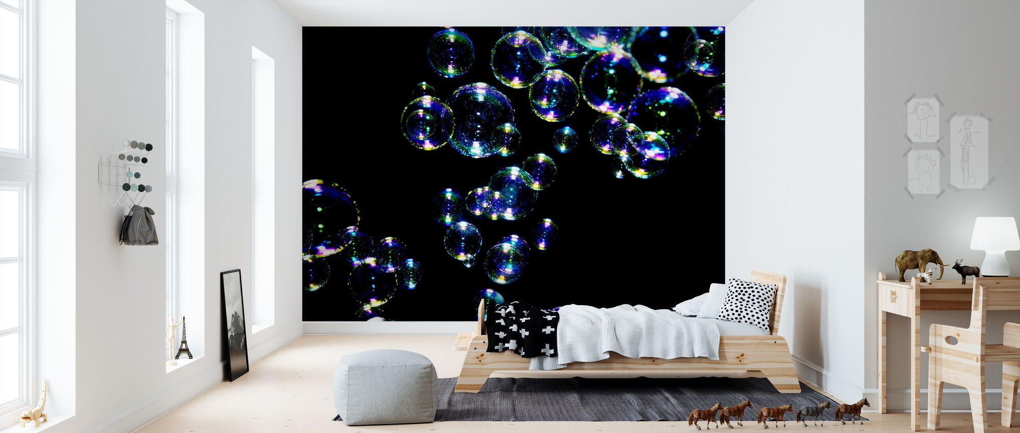 Glistening Bubbles - Wallpaper - Kids Room